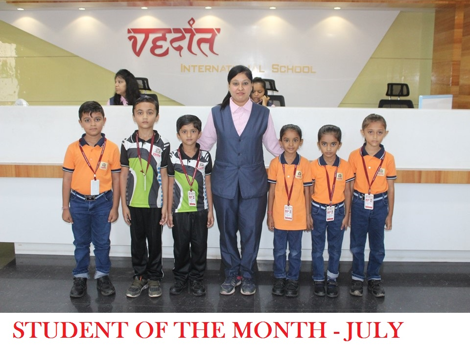 STUDENT OF THE MONTH – JULY
