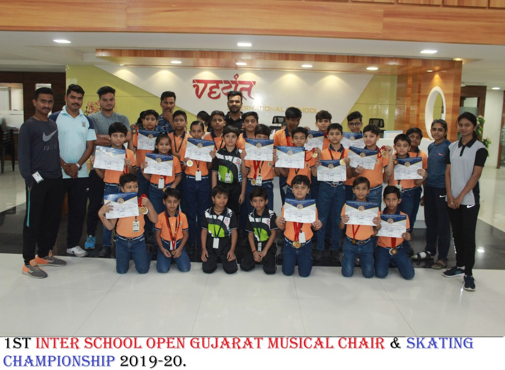 1ST INTER SCHOOL OPEN GUJARAT MUSICAL CHAIR & SKATING CHAMPIONSHIP 2019-20