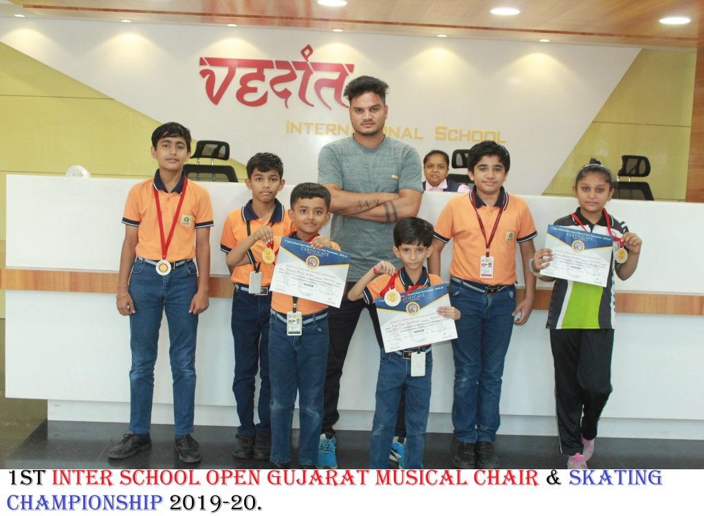 1ST INTER SCHOOL OPEN GUJARAT MUSICAL CHAIR & SKATING CHAMPIONSHIP 2019-20